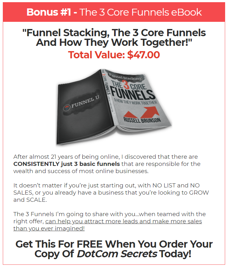 Example of using a bonus in an irresistible offr