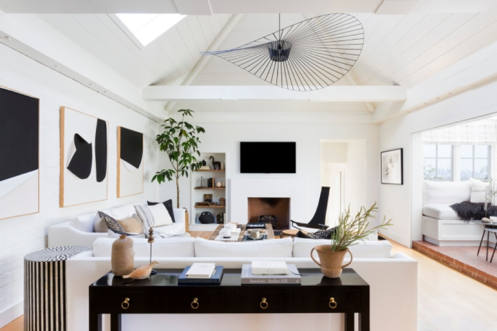 How to bring the california casual look to your atlanta home: white paint