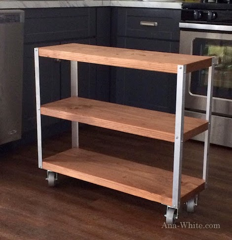 Would look amazing in the kitchen as a baking cart,