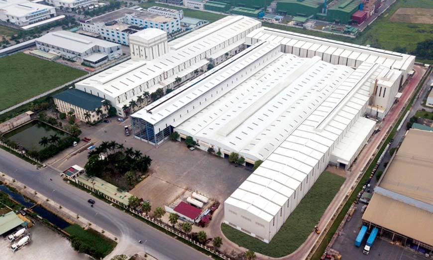 Nhà máy thuộc sở hữu của Mỹ Việt Group tại khu công nghiệp Phố Nối, Hưng Yên