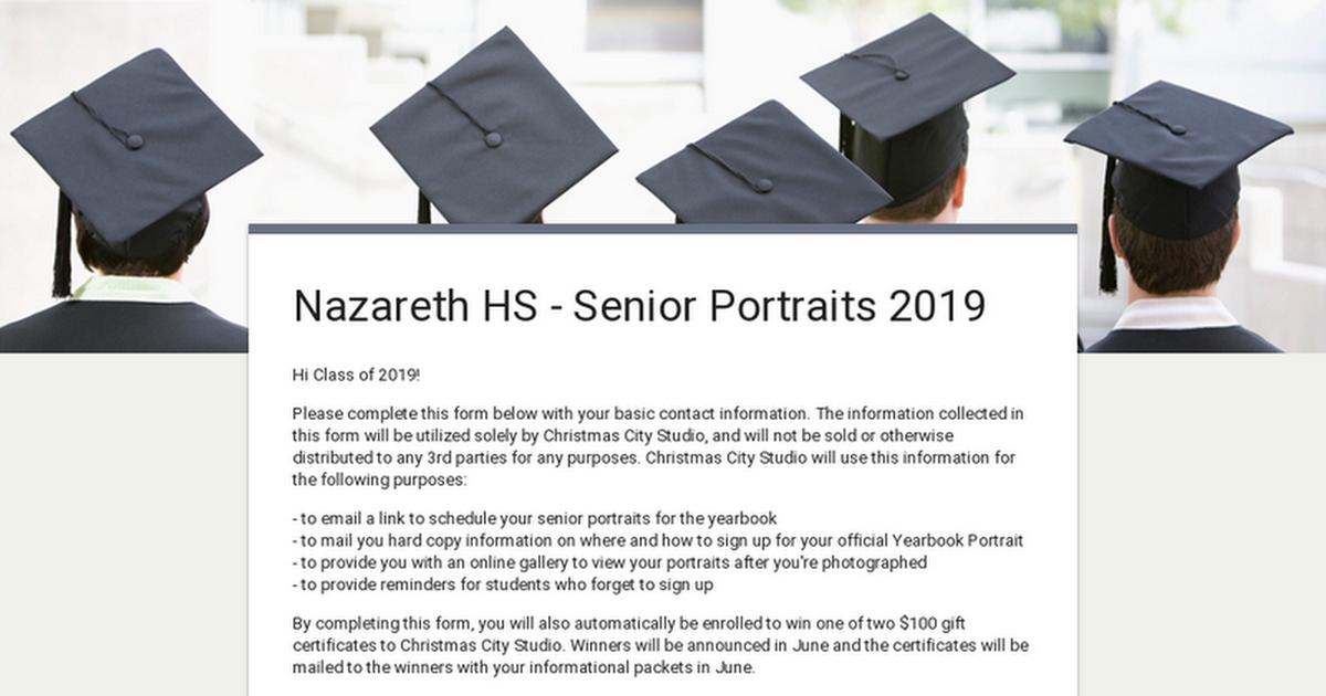 Christmas City Studio.Nazareth Hs Senior Portraits 2019