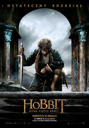 Polski plakat filmu 'Hobbit: Bitwa Pięciu Armii'