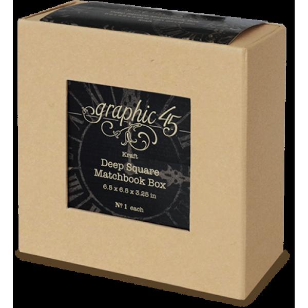 Deep Square Matchbook Box—Kraft