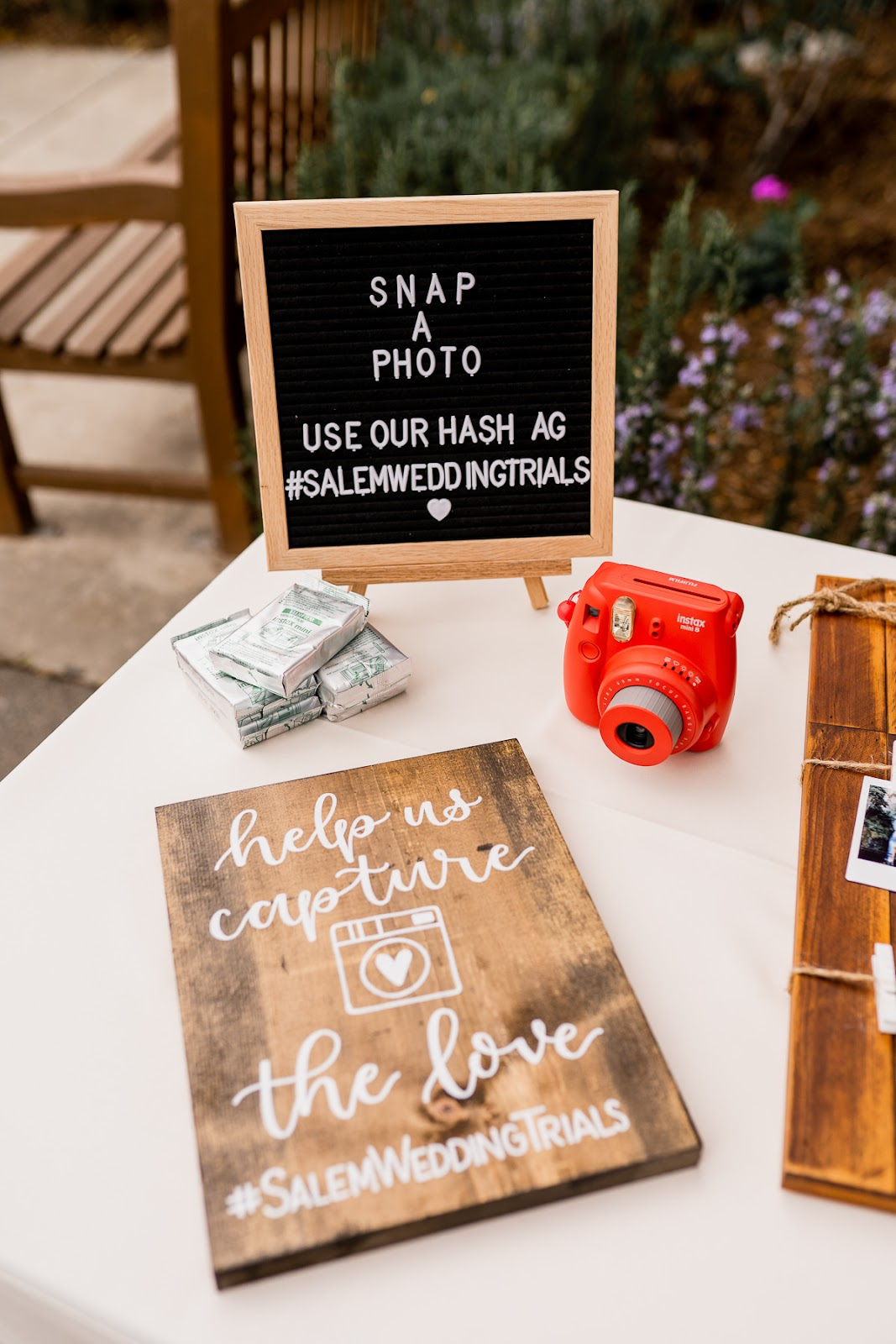 wedding guest book polaroids