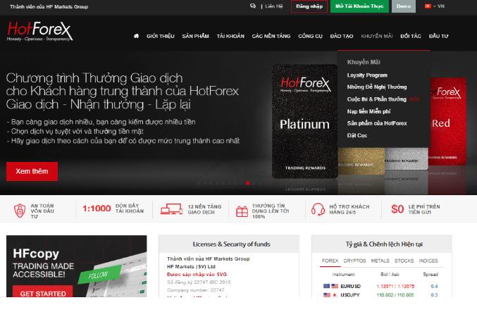Tìm hiểu về sàn giao dịch Hotforex