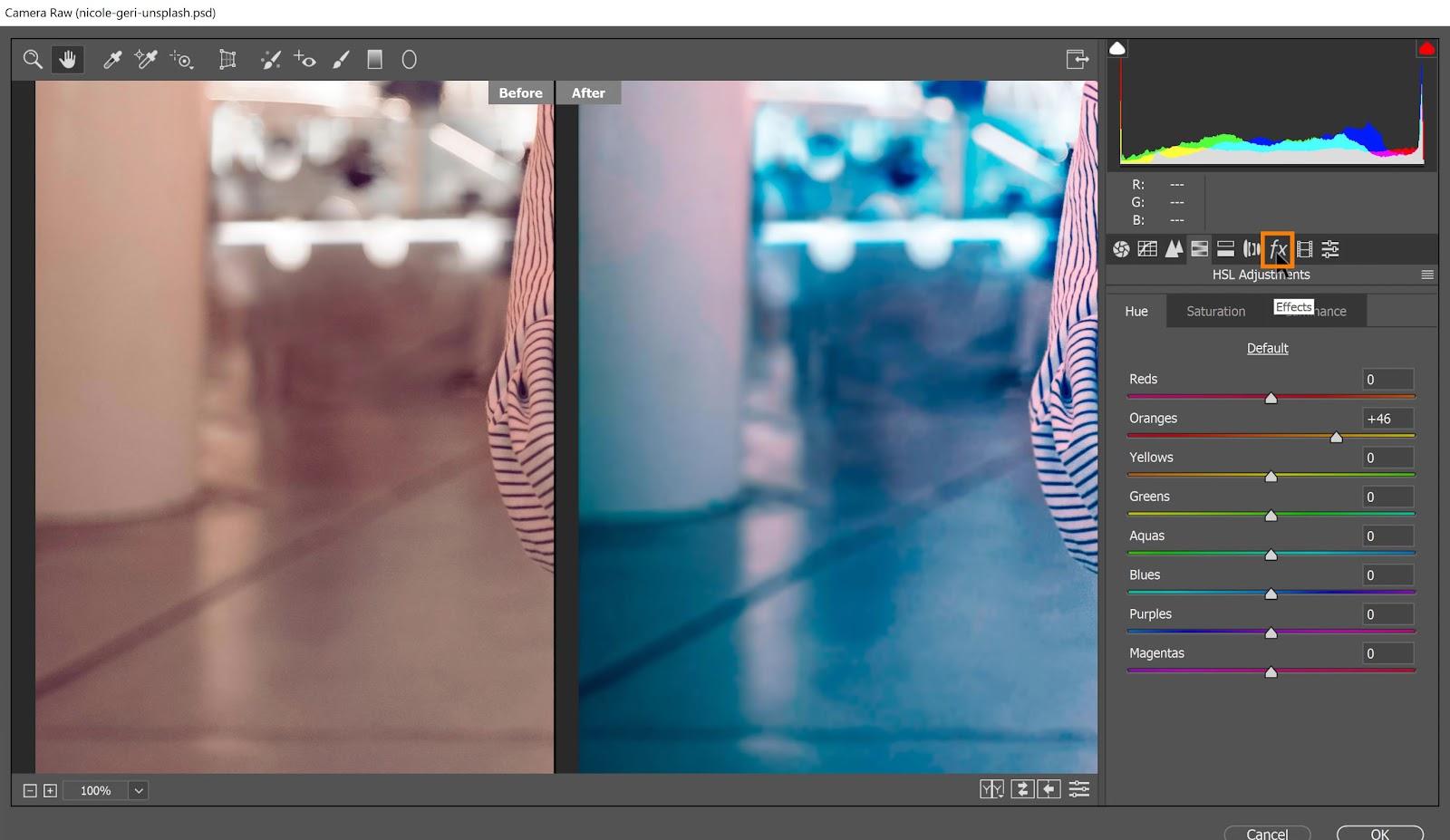 Fine-Tune the Neon Portrait Color Effect