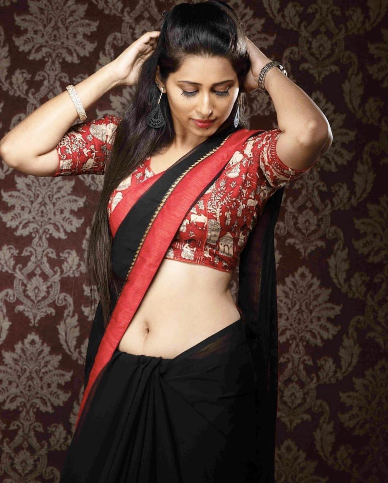 Priya Hegde latest Saree photos Navel Queens