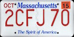 Image of the Massachusetts state license.