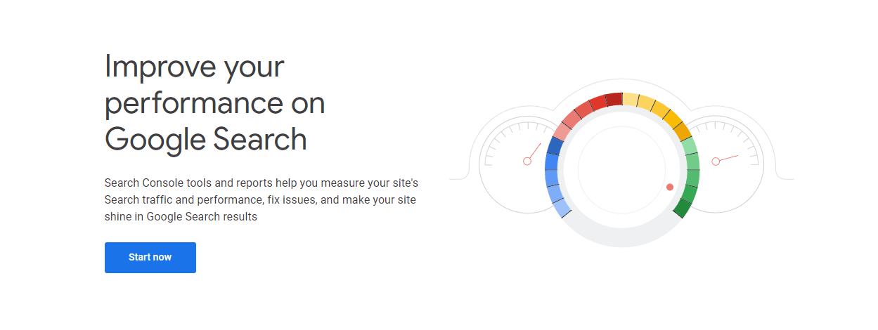 Google Search Console welcome page