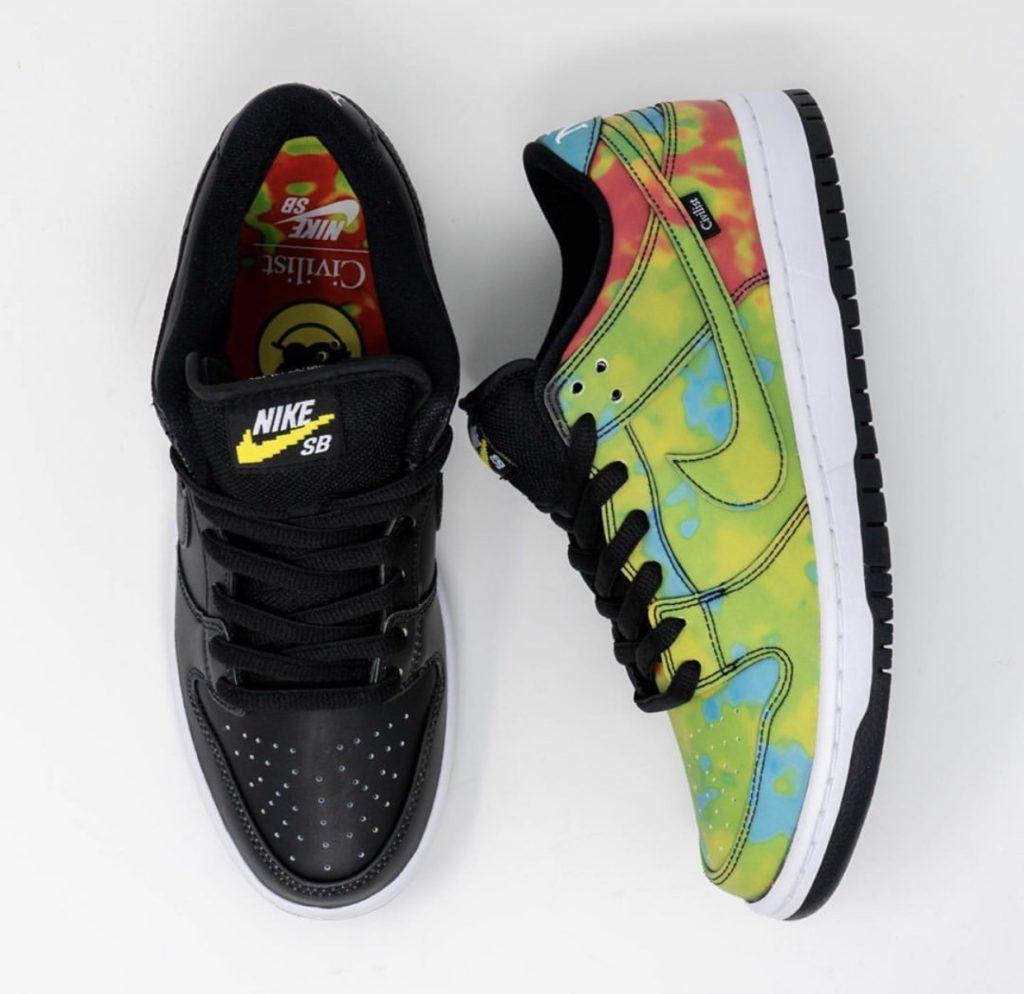 Nike sb dunk civilist đổi màu theo nhiệt độ đầy ấn tượng