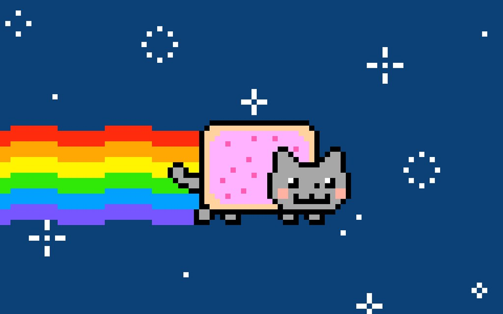 Nyan Cat with a rainbow trail