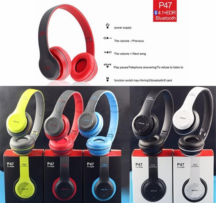 Casque Bluetooth 4.1 sans fil Stéréo 3 Fonctions EDR Réponse mains libre Téléphone Micro Bluetooth Radio FM Lecteur MP3 Carte Micro SD Oreillette pliable Couleurs www.avalonkef.com8.jpg