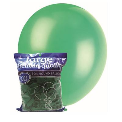Discount Party Supplies 30cm Latex Balloons - Decorator Green (100 Pack)