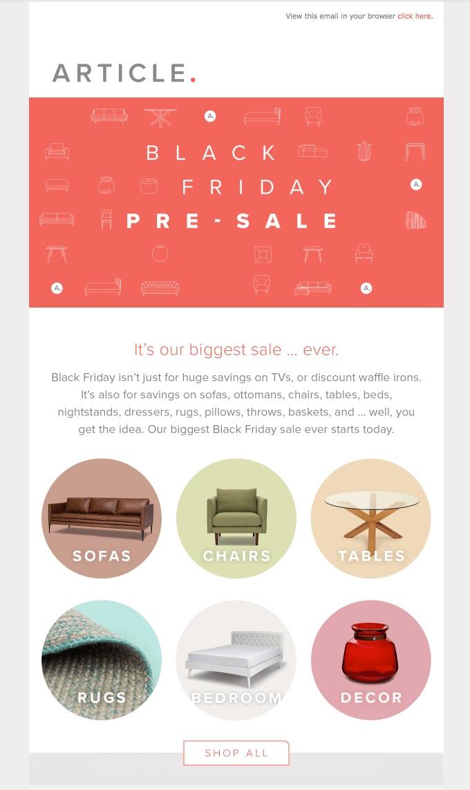 black friday pre sale
