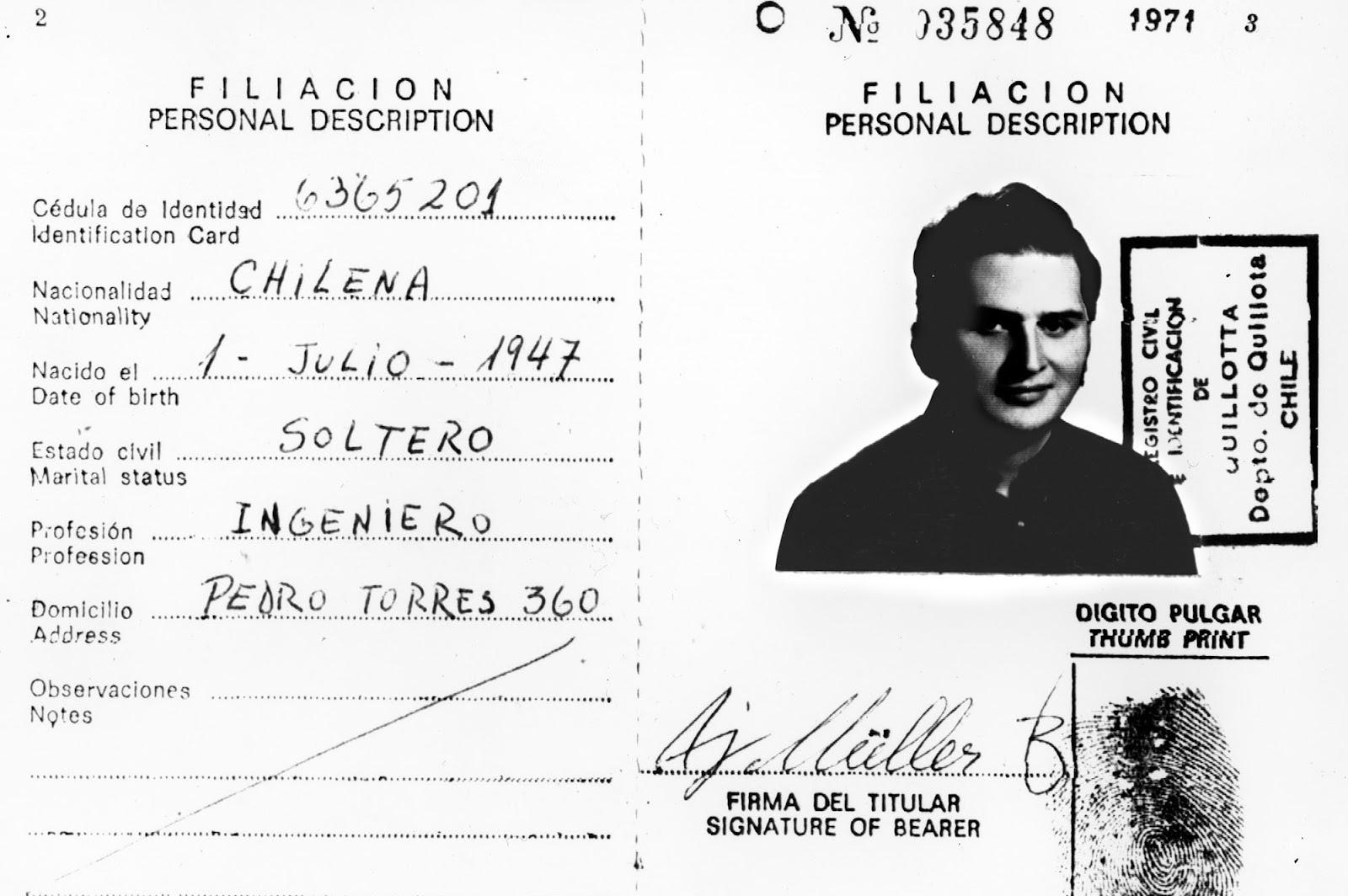 МНОГО ЛИЦ: Чилийский паспорт Ильича Рамиреса на другое имя