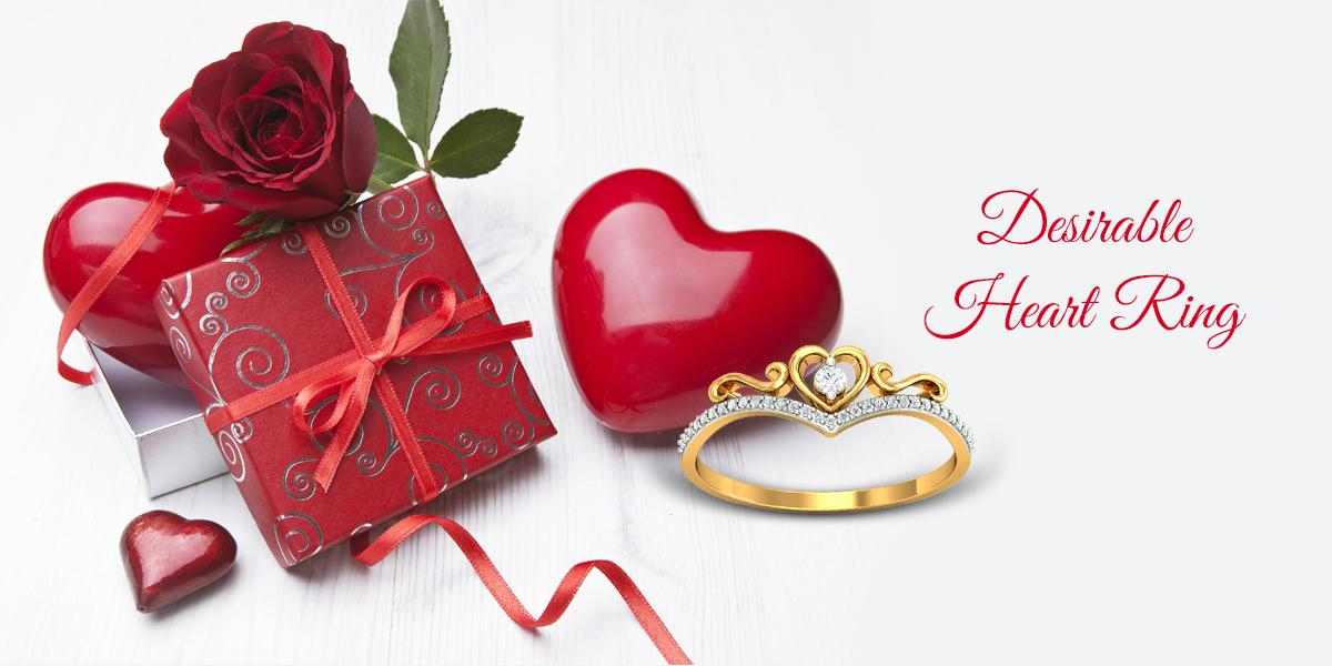 desriable heart ring for her