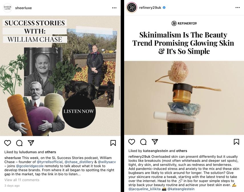 Konkurs na Instagramie – zrzuty ekranu