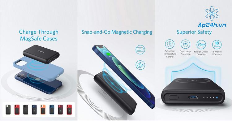 Anker PowerCore Magnetic 5K và công nghệ được trang bị