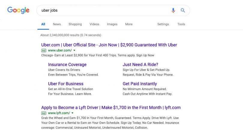Google's Job Search