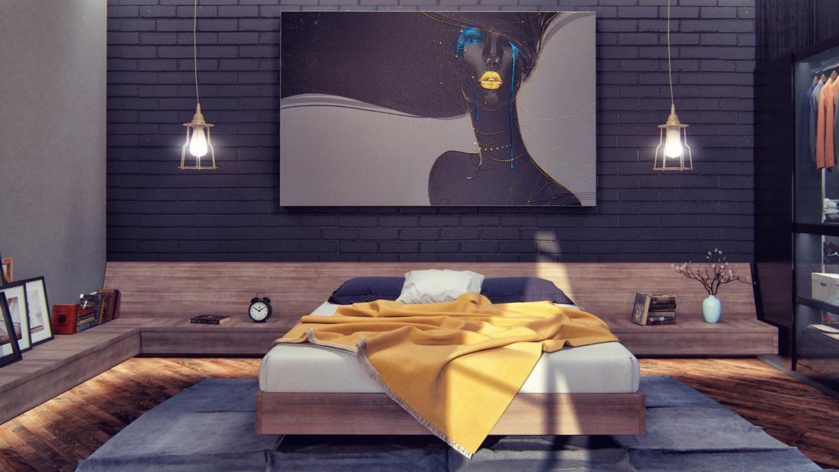 kamar tidur gelap