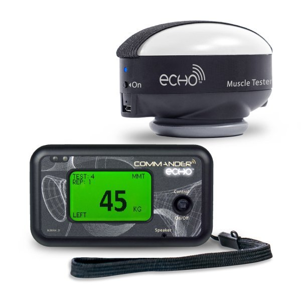 Includes Echo Wireless Manual Muscle Tester and Commander Echo Console for MMT data collection