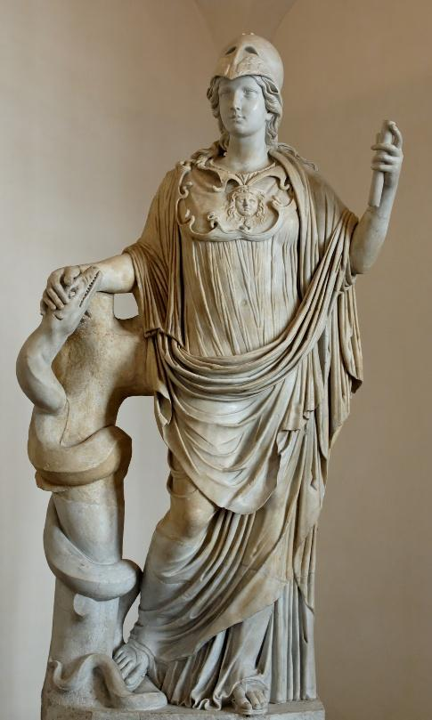 Minerva with snake