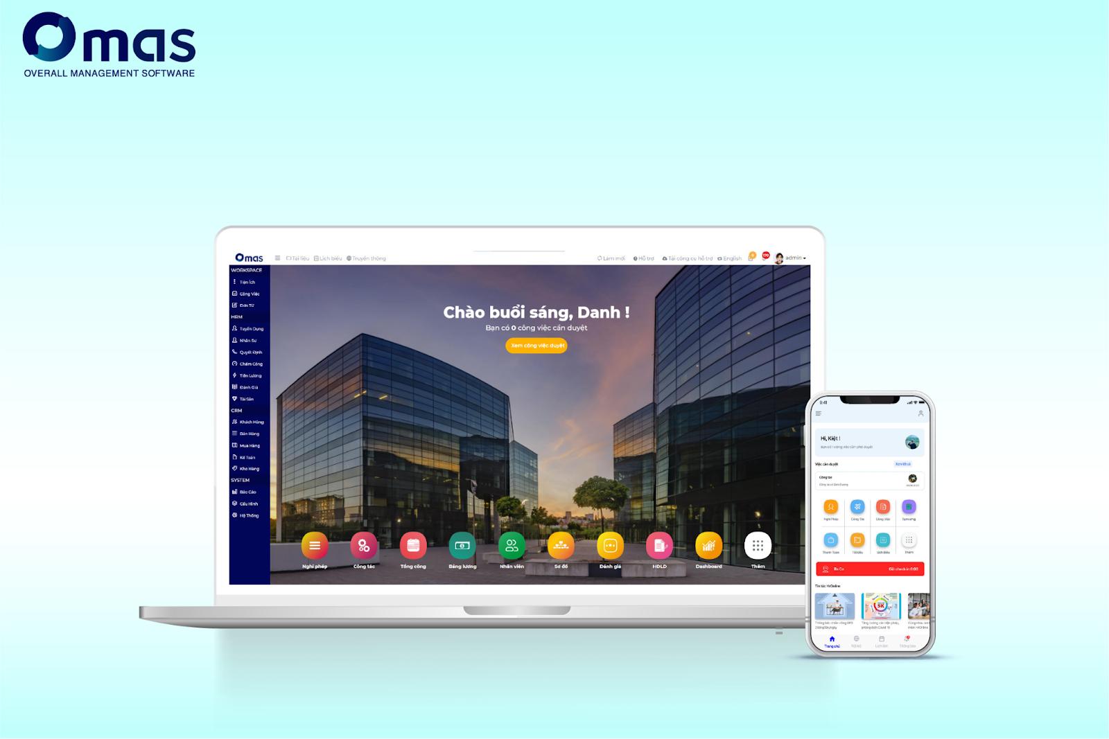 Omas - sản phẩm của công ty Giải pháp phần mềm công nghệ SoftOne