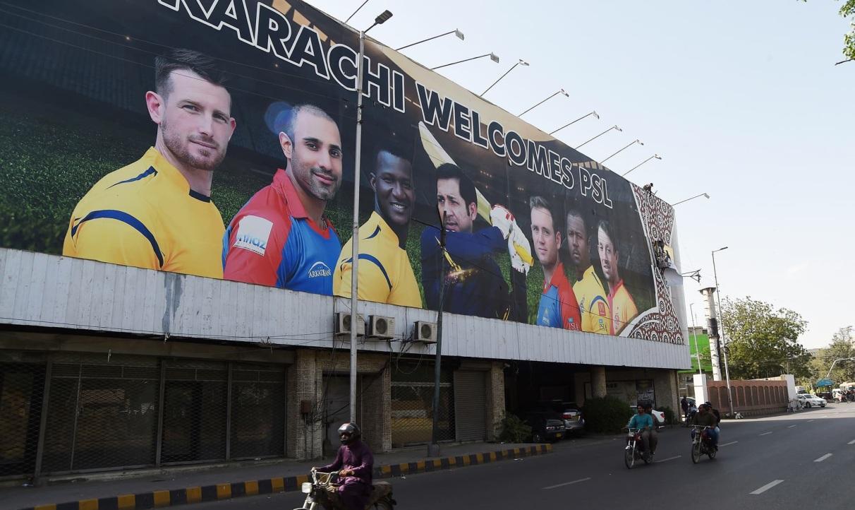 Image result for Karachi National Stadium billboards