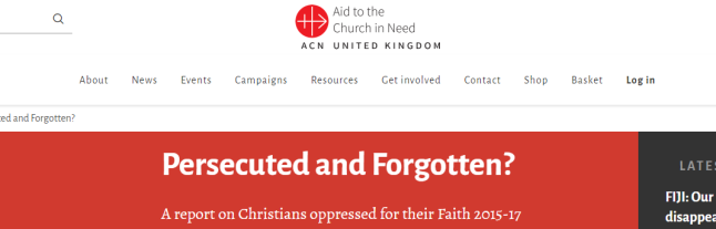 Aid to the Church in Need Persecuted and Forgotten