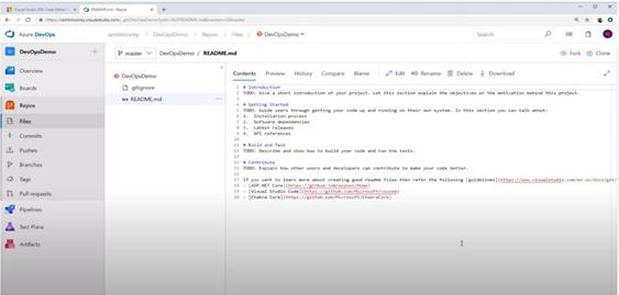 Azure DevOps platform