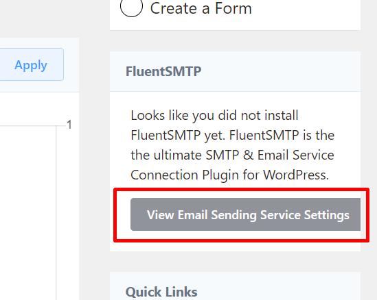 fluentcrm email sending service setup