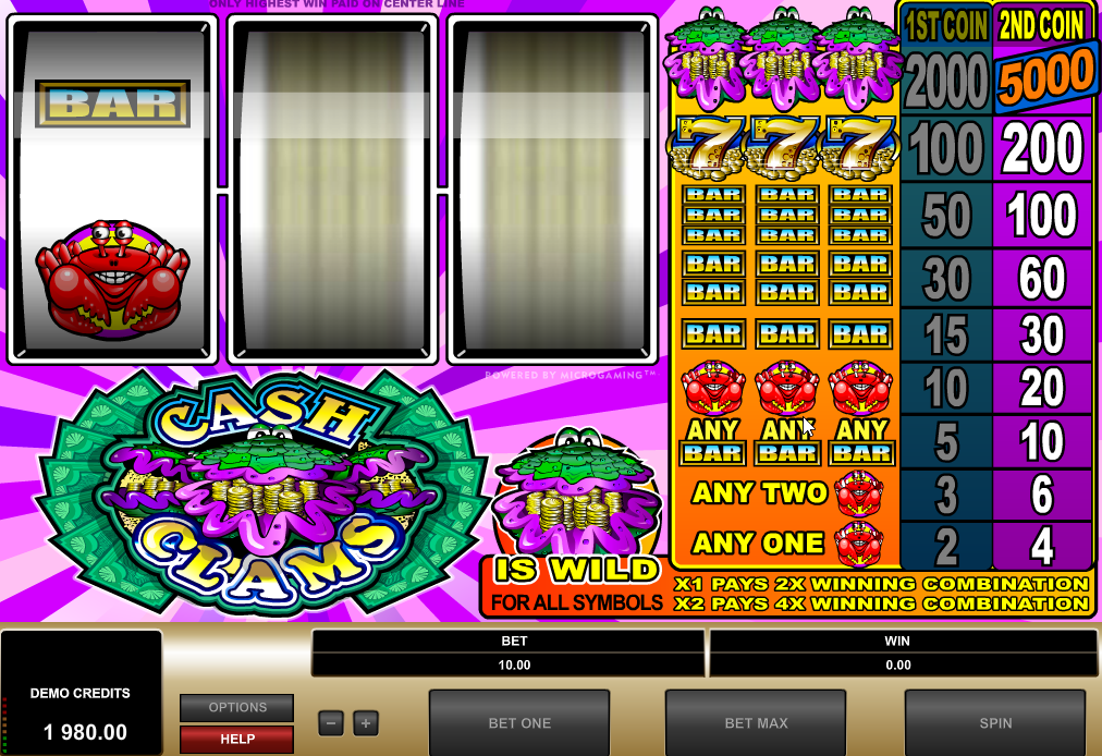 Cash Clams Slots Machine Review