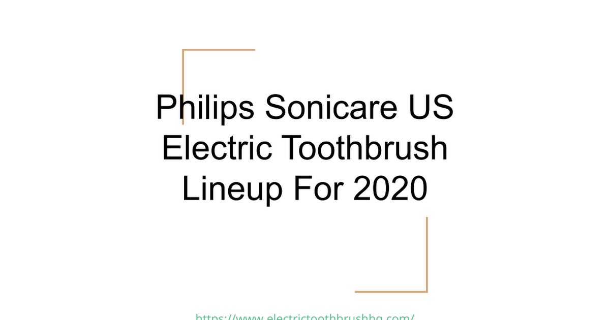 Philips Sonicare Electric Toothbrush Lineup 2020.pdf