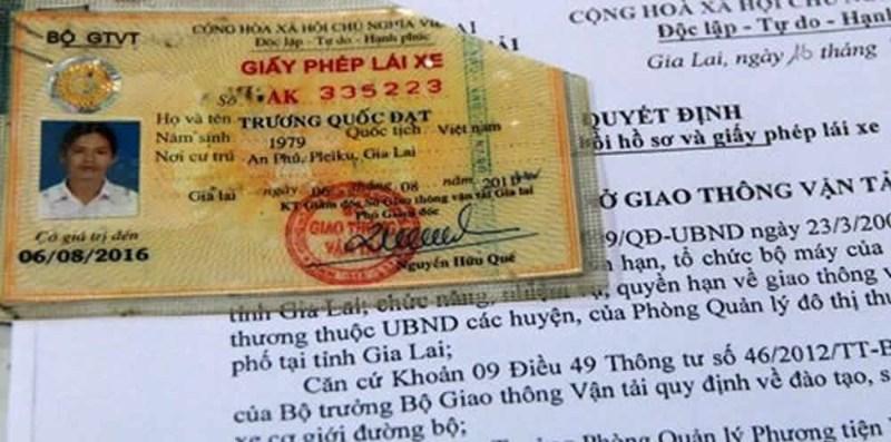 Hình 1: Sử dụng Giấy phép lái xe giả là vi phạm pháp luật