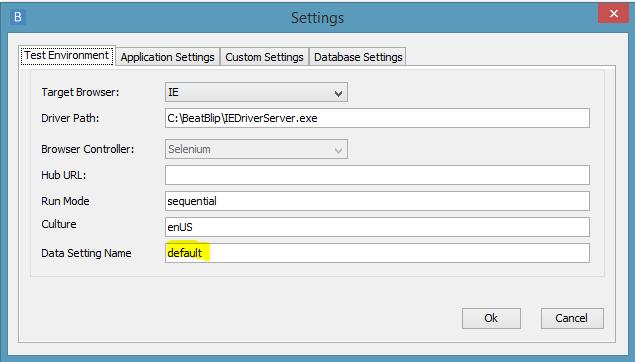 verify data setting name in desktop client settings