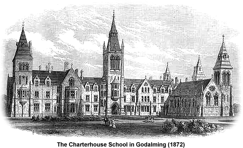 The Charterhouse School in 1872.