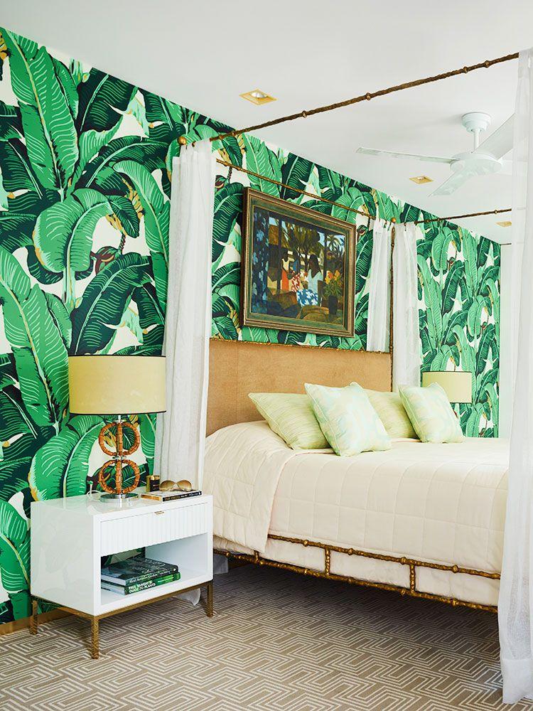 A Tropical Green Bedroom Ideas