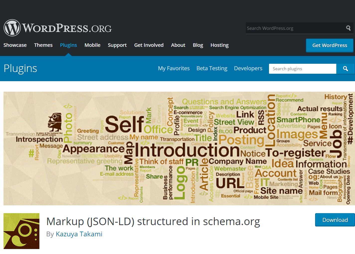 Плагин Markup (JSON-LD) structured in schema.org