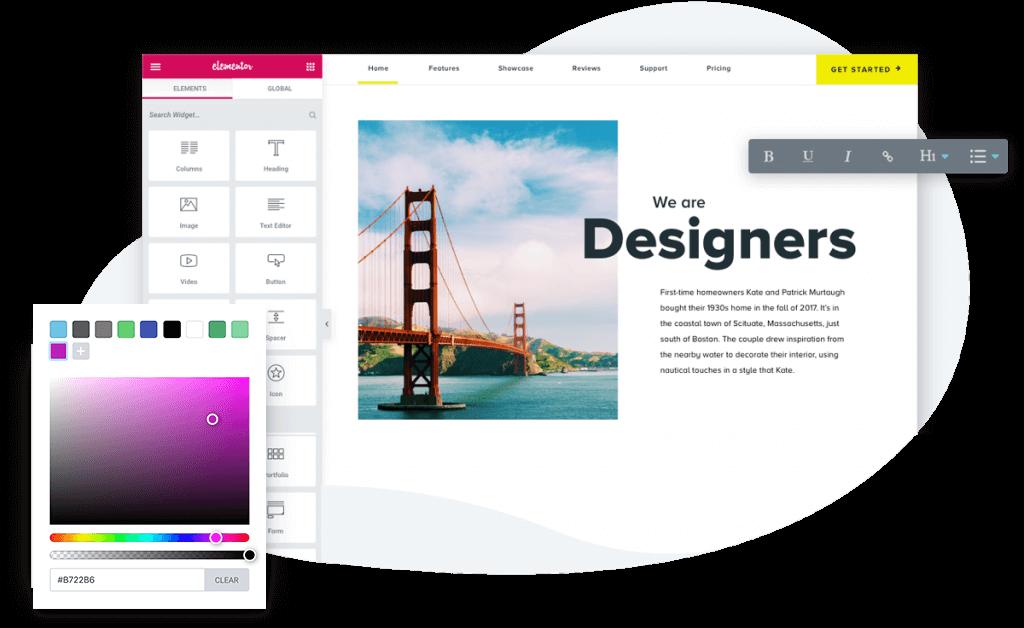 Elementor Design Editor