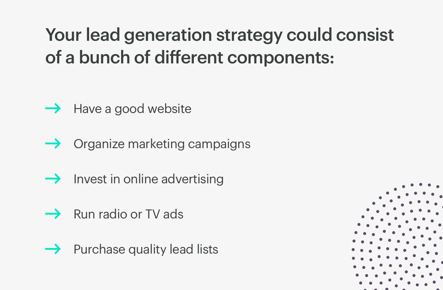 lead generation components