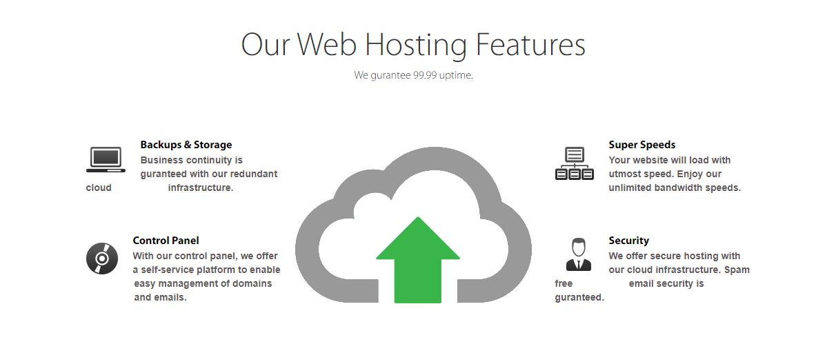 Safaricom Hosting features