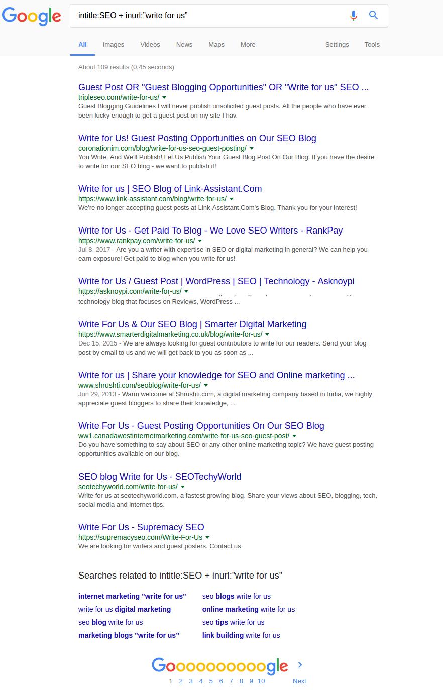 inurl toán tử tìm kiếm của Google