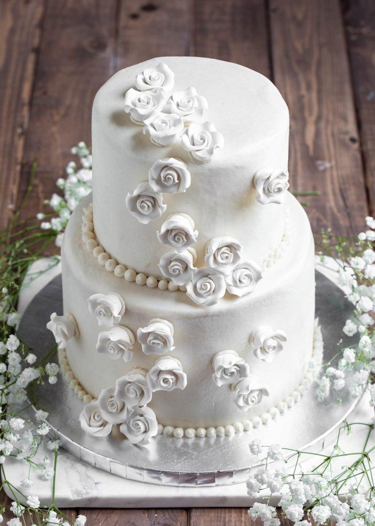 homemade vegan, gf vanilla wedding cake