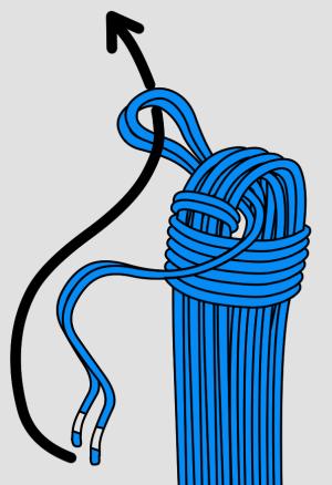 une boucle pour pouvoir faire un noeud
