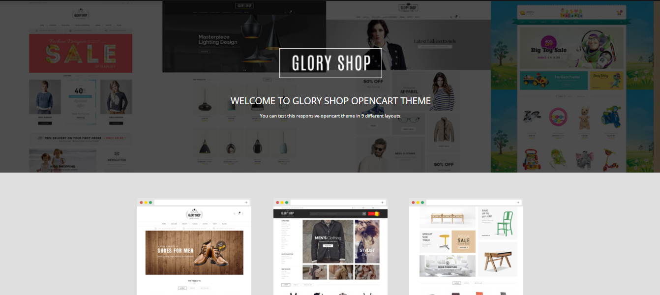 Glory Shop - Cosmetic opencart theme: