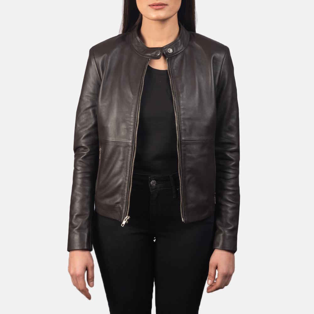 Rave Brown Leather Biker Jacket