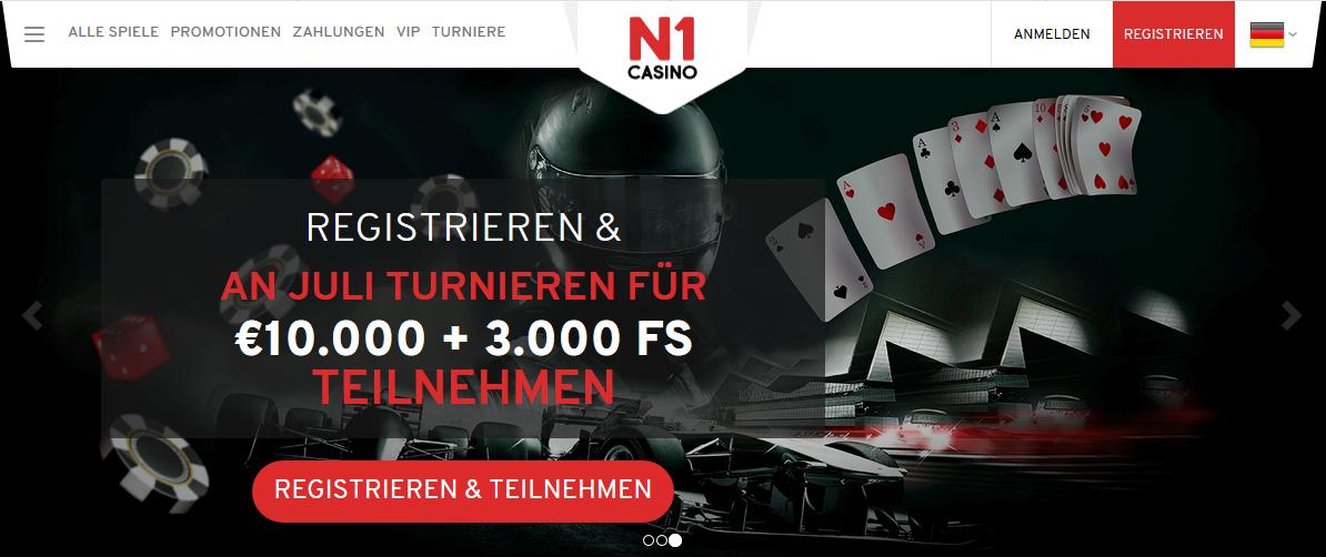 n1 casino: bonus und turnieren