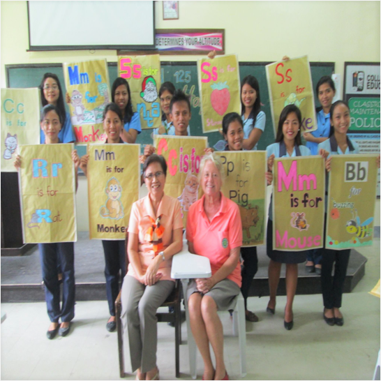 Students' Output in their reading subject with Ms. Marcia Ricketts, a peace corps volunteer from USA