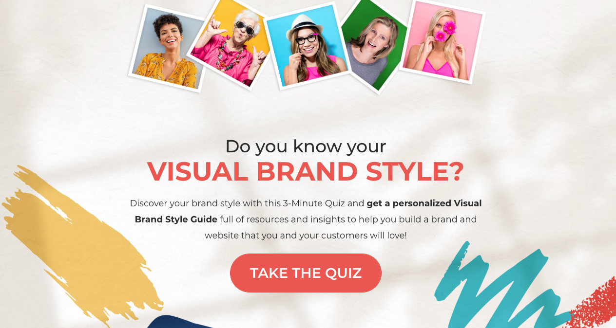 quiz cover for do you know your visual brand style?