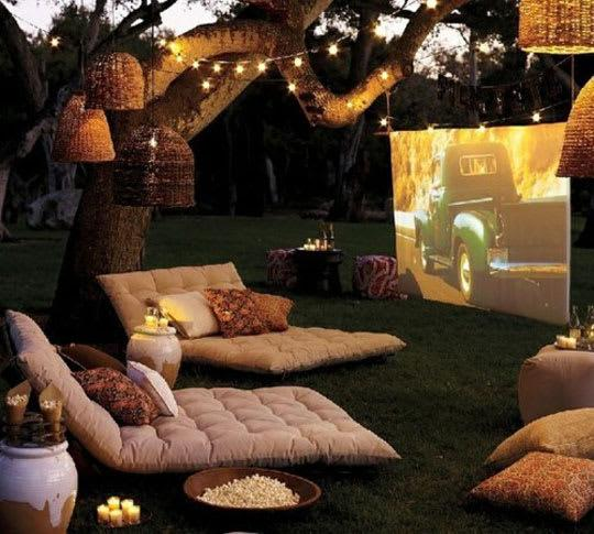 Image result for backyard home cinema